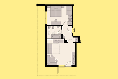 Room map Apartment 1